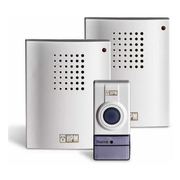 HPM Wireless Door Chime With 2 Receiver & 1 Transmitter