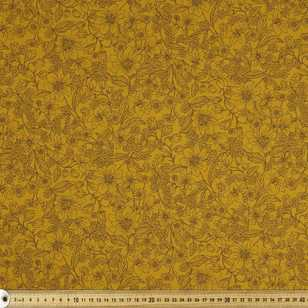 Etched Floral Printed 112 cm Japanese Lawn Fabric