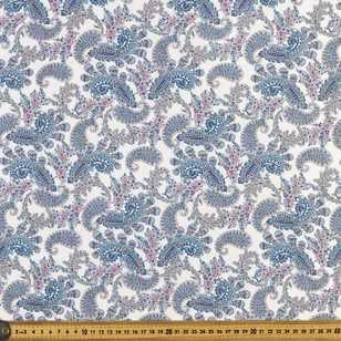 Paisley Printed 112 cm Japanese Lawn Fabric