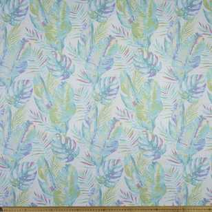 Watercolour Leaves Printed 112 cm Poplin Fabric