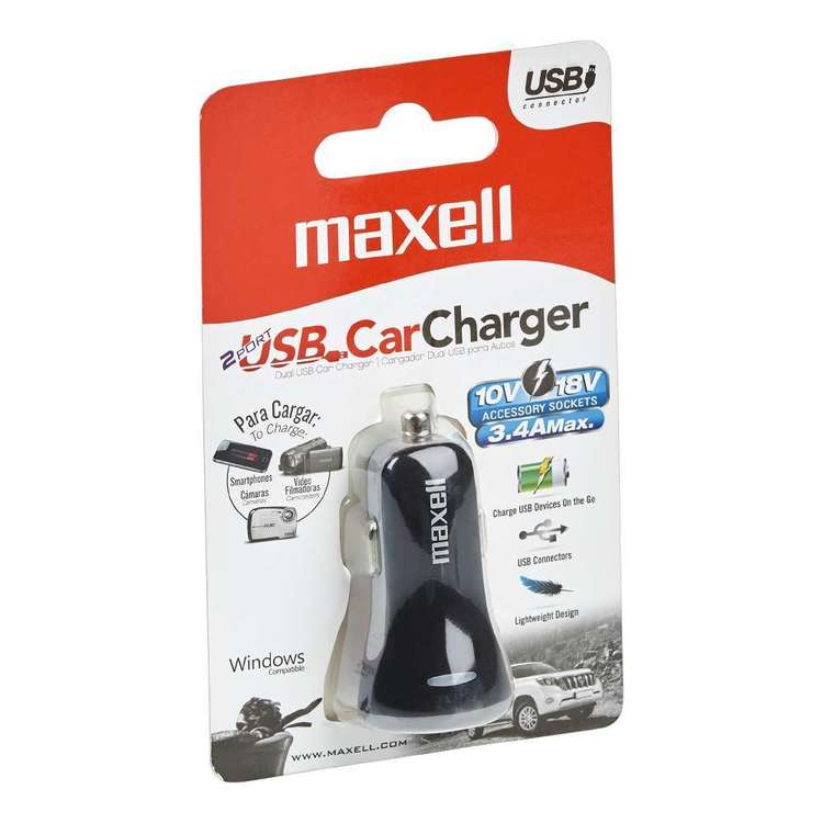 Maxell Dual Port USB Car Charger