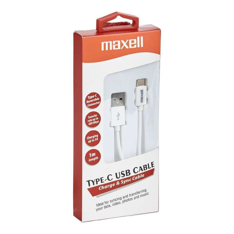 Maxell Type C Cable Red & White