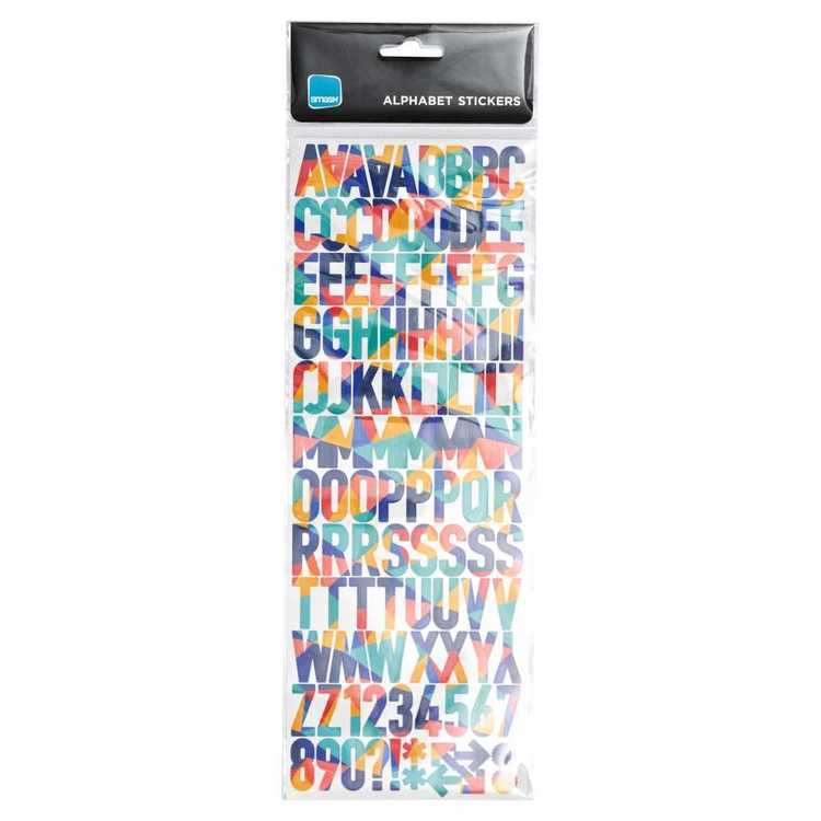 Smash Assorted Medium Alphabets & Numbers Stickers
