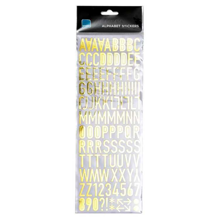 Smash Assorted Medium Alphabets & Numbers Metallic Stickers