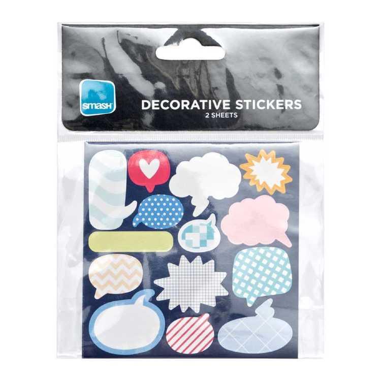 Smash Speech Small Decorative Stickers