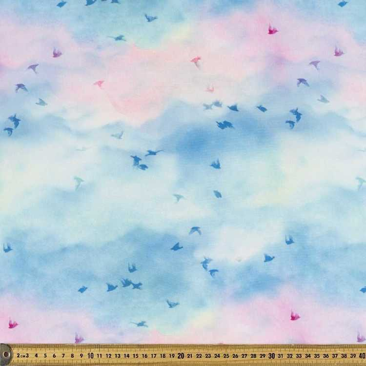 Birds Pearl Printed Georgette Fabric
