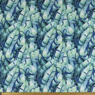 Banana Palm Pearl Printed Georgette Fabric