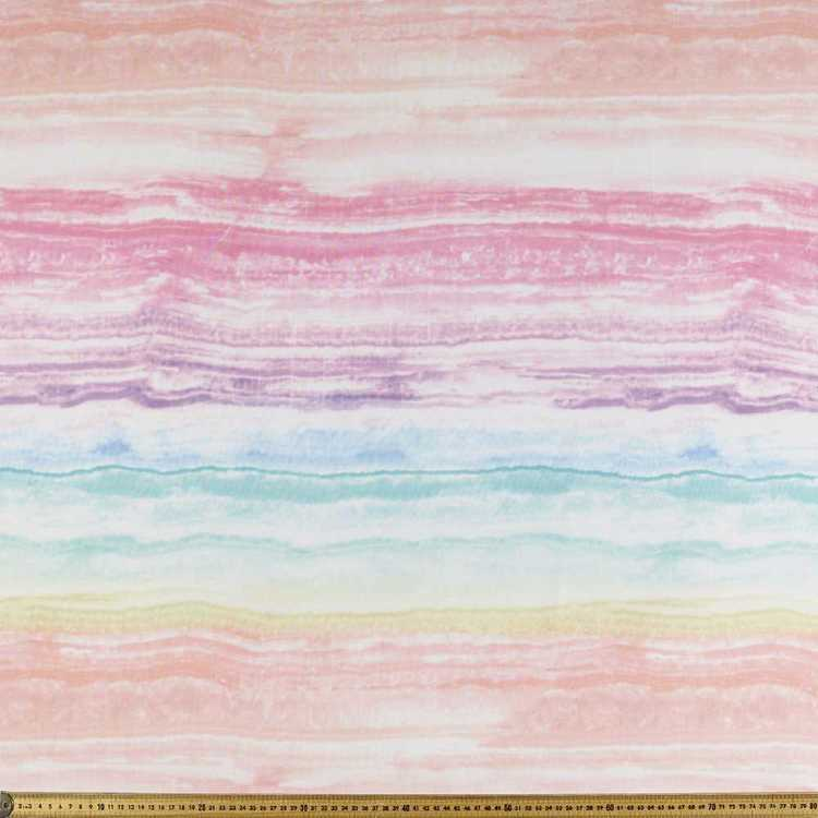 Rainbow Pearl Printed Georgette Fabric