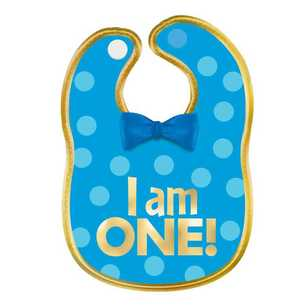Amscan 1st Birthday Boys Fabric Bib
