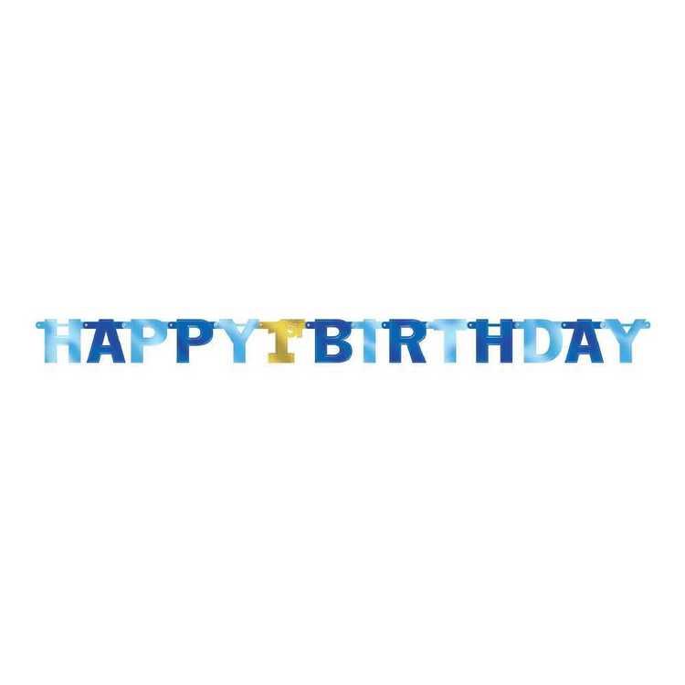 Amscan 1st Birthday Boys Letter Banner
