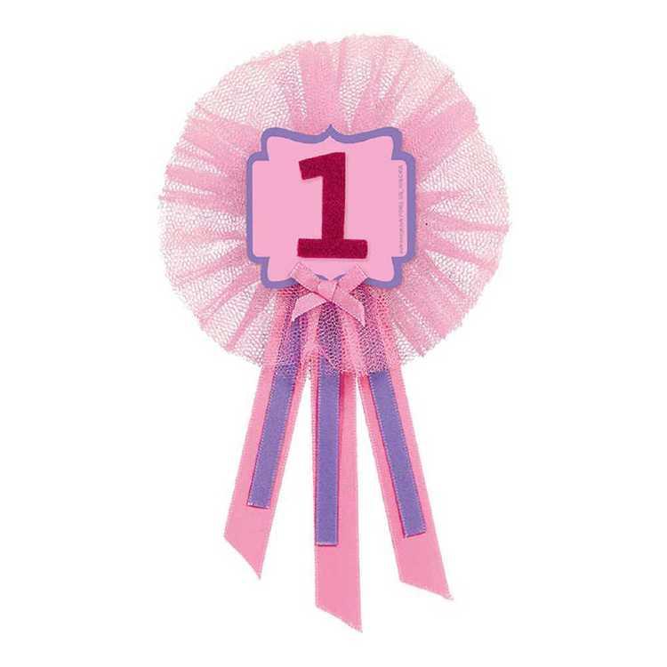 Amscan 1st Birthday Girls Award Ribbon