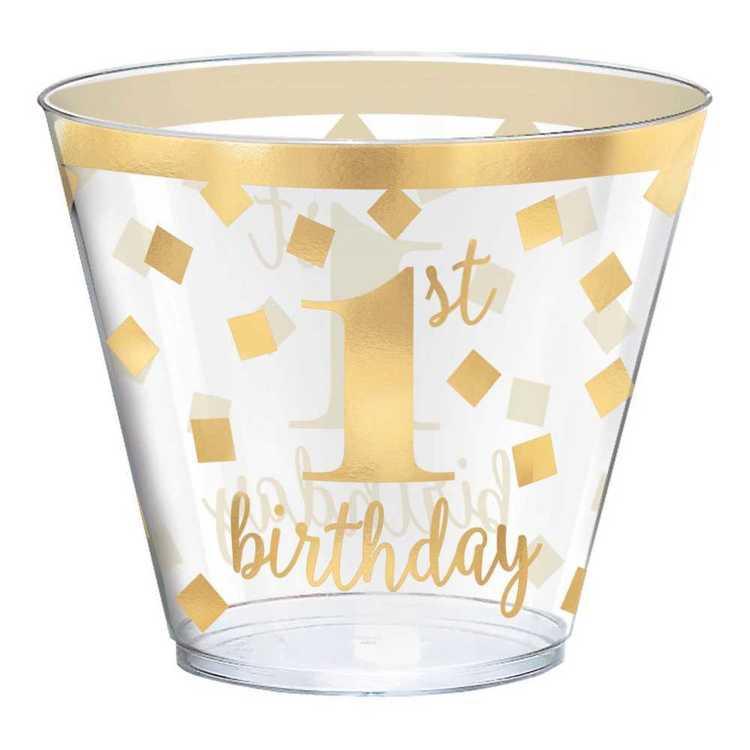 Amscan 1st Birthday Plastic Tumblers 30 Pack