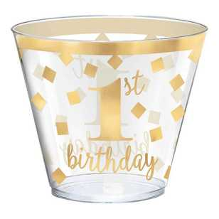 Amscan 1st Birthday Plastic Tumblers 30 Pack