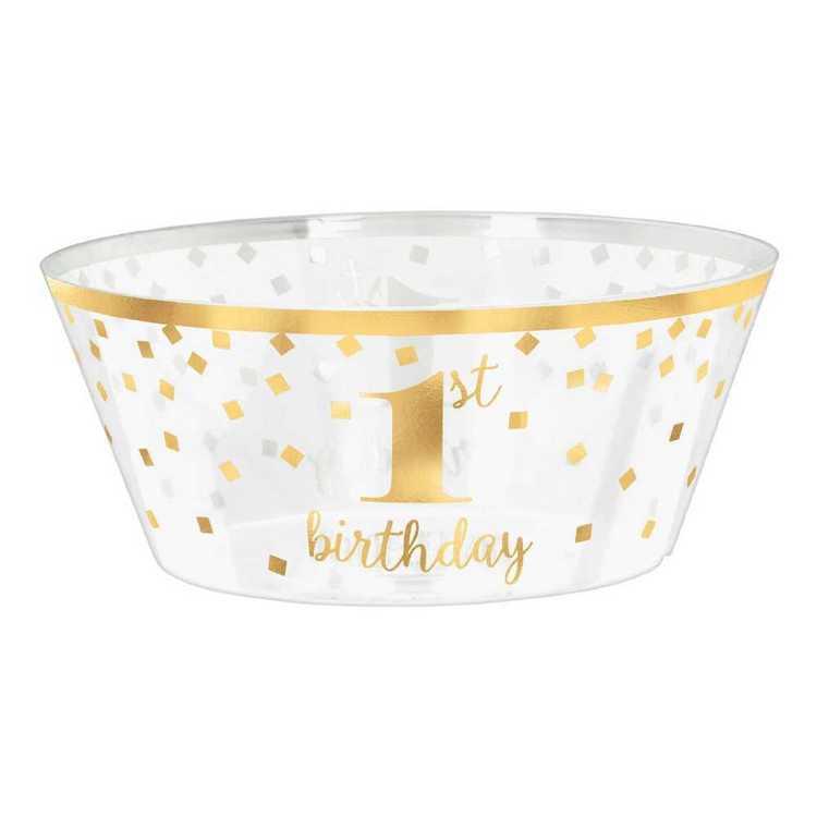 Amscan 1st Birthday Plastic Serving Bowl