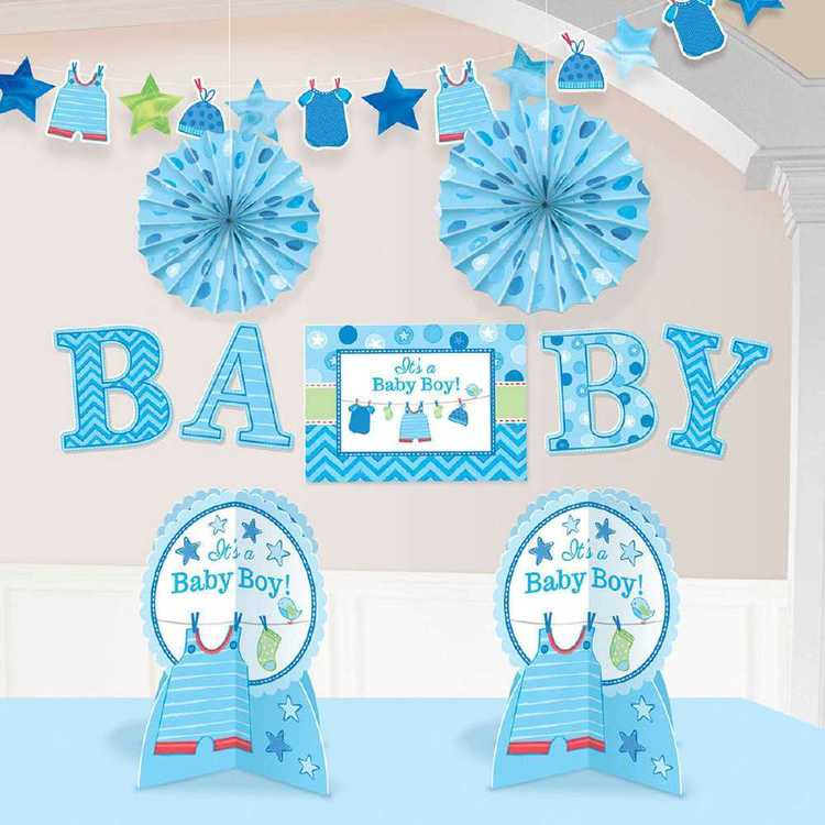 Amscan Shower With Love Boys Room Decorating Kit