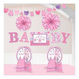 Amscan Shower With Love Girls Room Decorating Kit