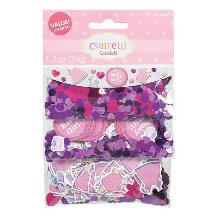 Amscan Shower With Love Girls Value Confetti
