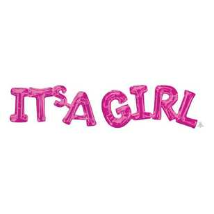 Amscan 'It's A Girl' Phrase Balloon