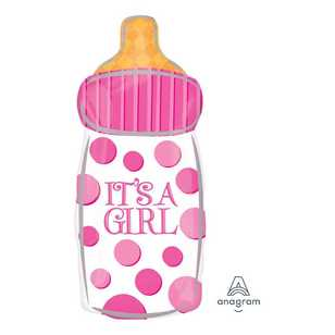 Amscan 'It's A Girl' Baby Bottle Balloon