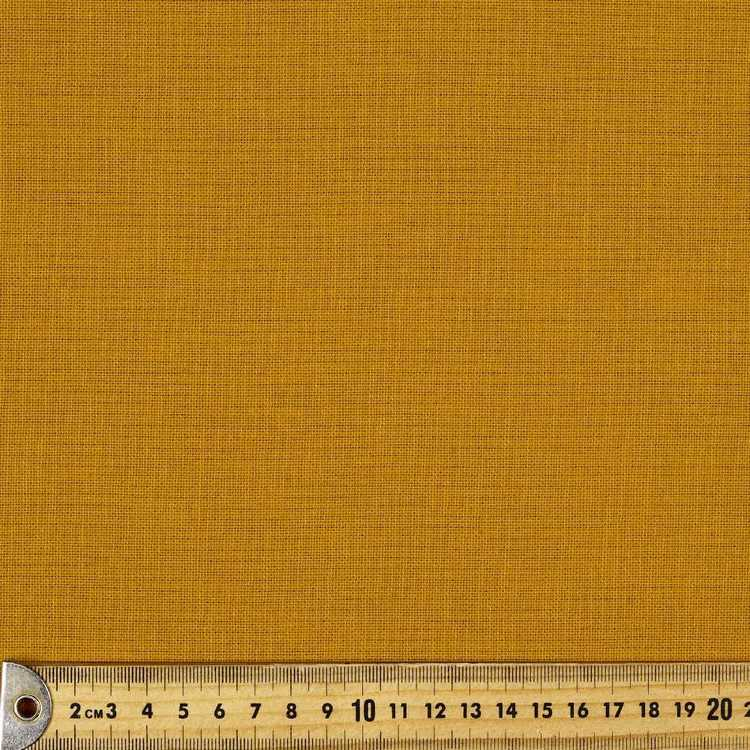 Cotton and Linen Blend Fabric Mustard 150 cm