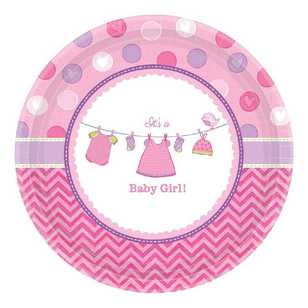 Amscan Shower With Love Girls Round Plate
