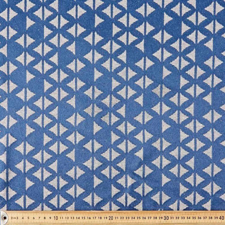 Indigo Wave Jacquard Fabric