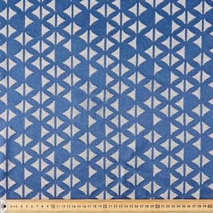 Indigo Wave Jacquard Fabric
