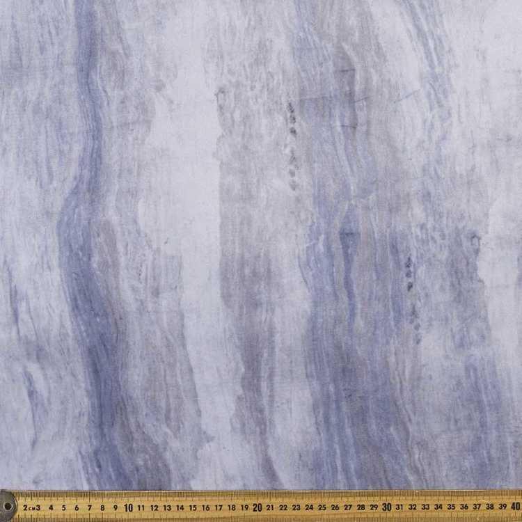 Indigo Marble Velvet Fabric