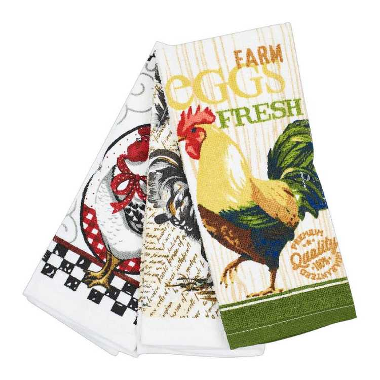 WAM Rooster Terry Tea Towels