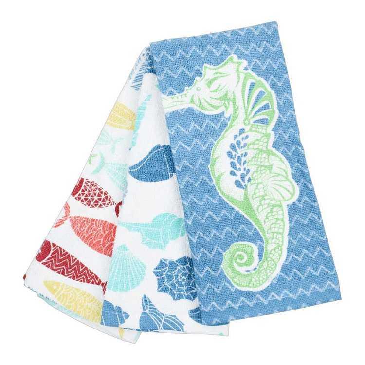 WAM Sealife Terry Tea Towels