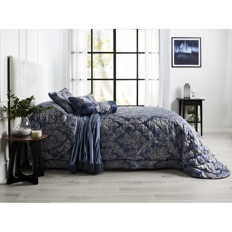 La Scala Clifford Bedspread Petrol Single