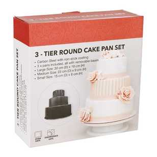 3-Tier Round Cake Pan Set