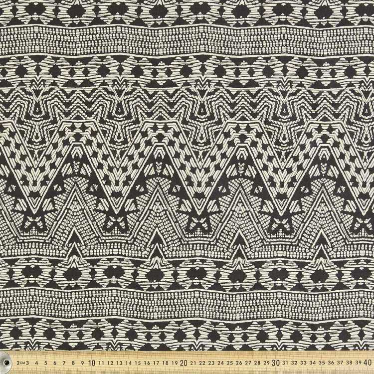Tribal Printed 138 cm Voile Fabric