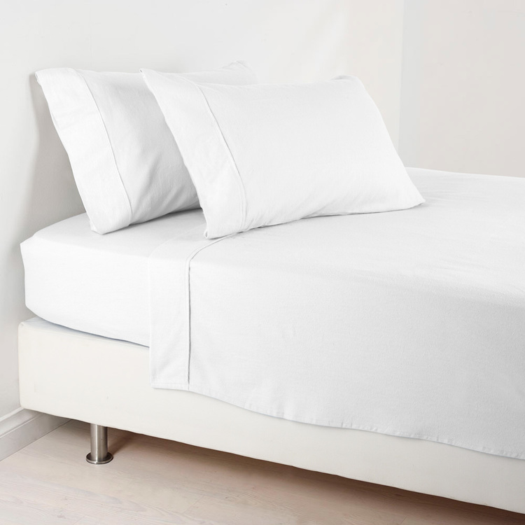 Eminence 1000 Thread Count Flat Sheet White Queen