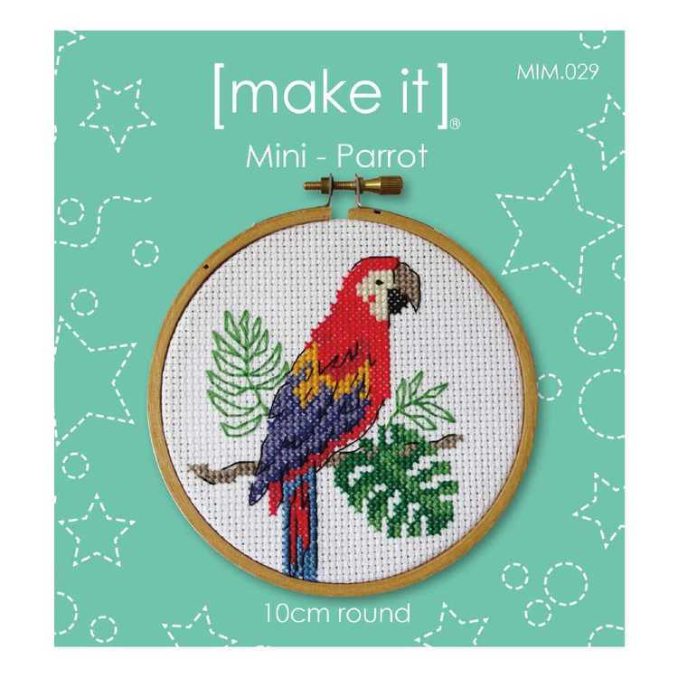 Make It Parrot Cross Stitch Kit Multicoloured 4 in