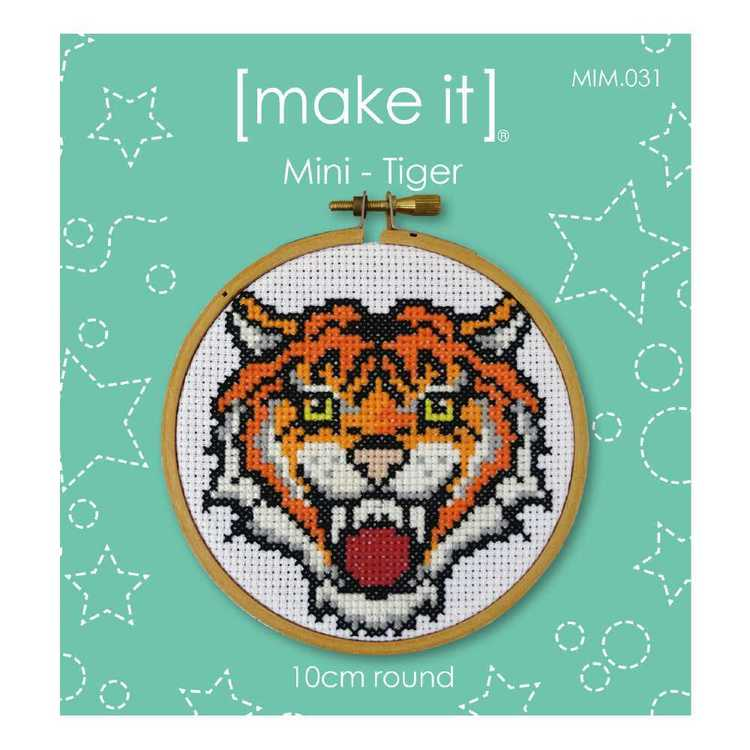 Make It Tiger Cross Stitch Kit Multicoloured 4 in