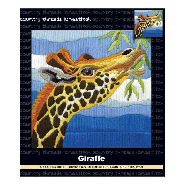Country Threads Giraffe Long stitch Kit