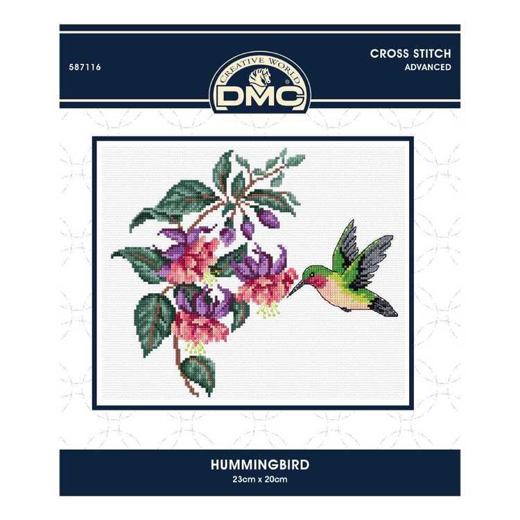 Dmc By Leutenegge Hummingbird Cross Stitch Kit