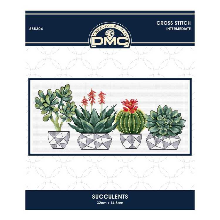 Dmc By Leutenegge Succulants Cross Stitch Kit