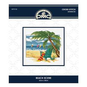 DMC By Leutenegge Beach Scene Cross Stitch Kit
