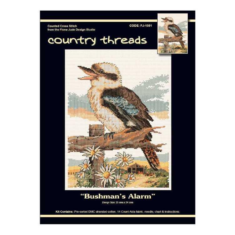 Country Threads Bushman's Alarm Cross Stitch Kit