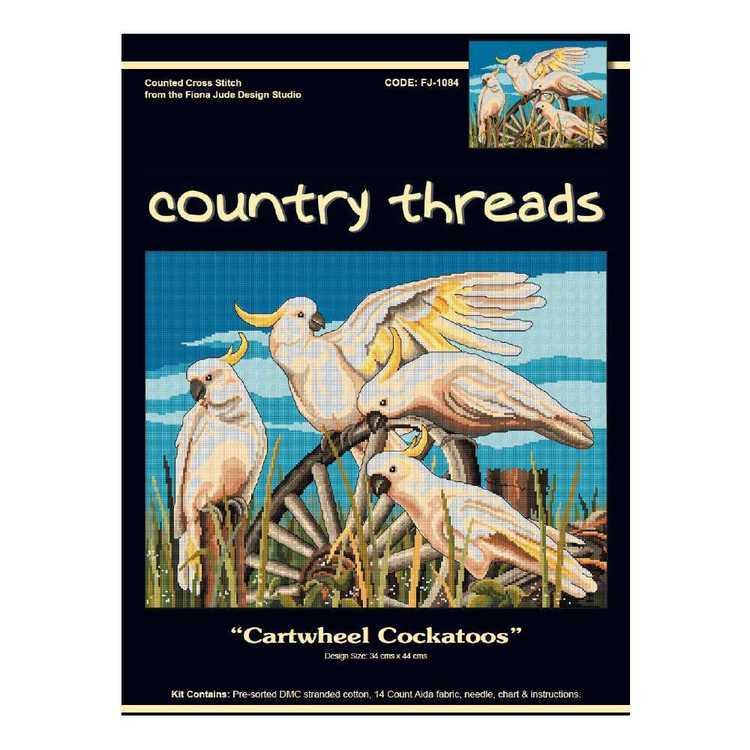 Country Threads Cartwheel Cockatoo Cross Stitch Kit