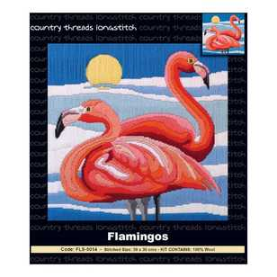 Country Threads Flamingo Long stitch Kit