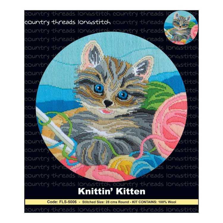 Country Threads Knitting Kitten Long stitch Kit