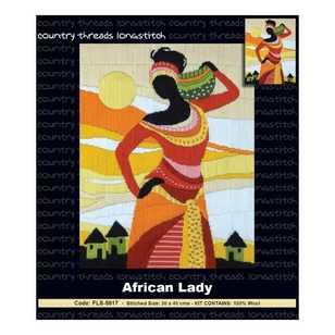 Country Threads African Lady Long stitch Kit