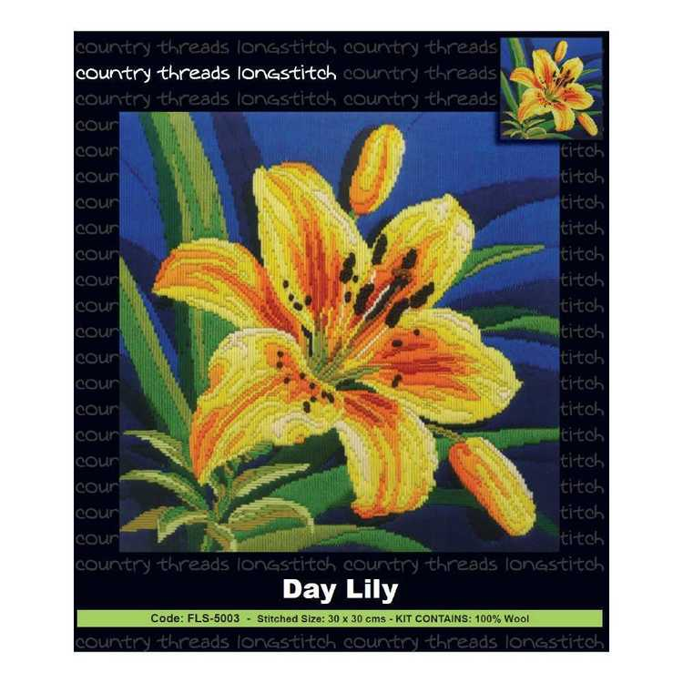 Country Threads Day Lily Long stitch Kit