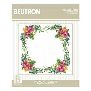 Beutron Tropical Flowers Topper Embroidery Kit