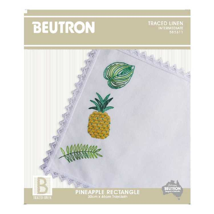 Beutron Pineapple Floral Tray cloth Embroidery Kit