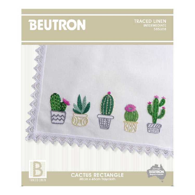 Beutron Cactus Tray cloth Embroidery Kit