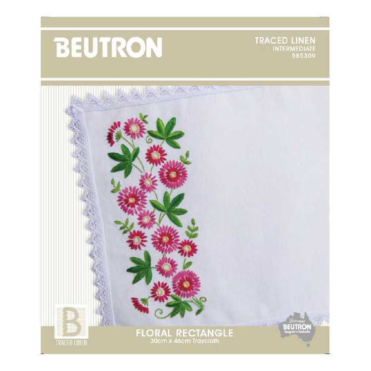 Beutron Floral Rectangle Embroidery Kit